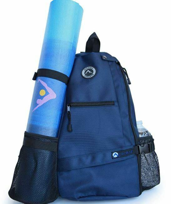 yoga mat backpacks: AURORAE Yoga Mat Carrier Bag. Multi Purpose Cross-Body Sling Back Pack