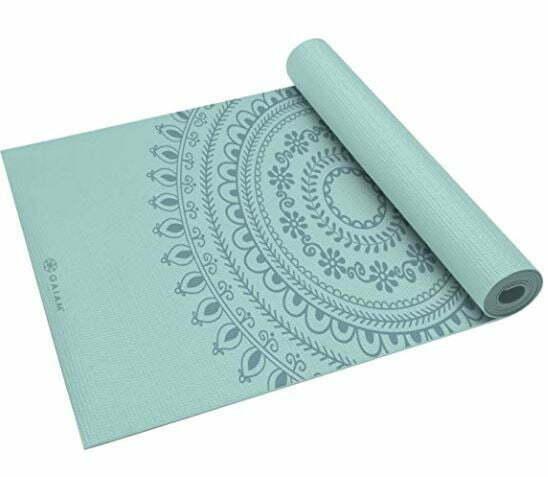 Yoga Mat for Carpet: Gaiam Yoga Mat - Premium 6mm Print Extra Thick Non Slip Exercise & Fitness Mat