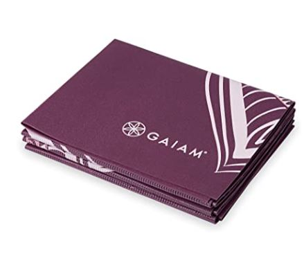 thick yoga mat for bad knees: Gaiam Yoga Mat - Folding Travel Fitness & Exercise Mat