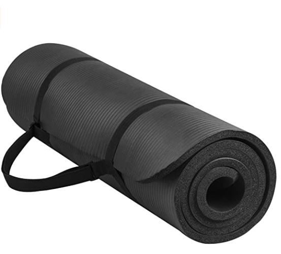 thick yoga mat for bad knees: BalanceFrom GoYoga All-Purpose 1/2-Inch Extra Thick High Density Anti-Tear Exercise Yoga Mat