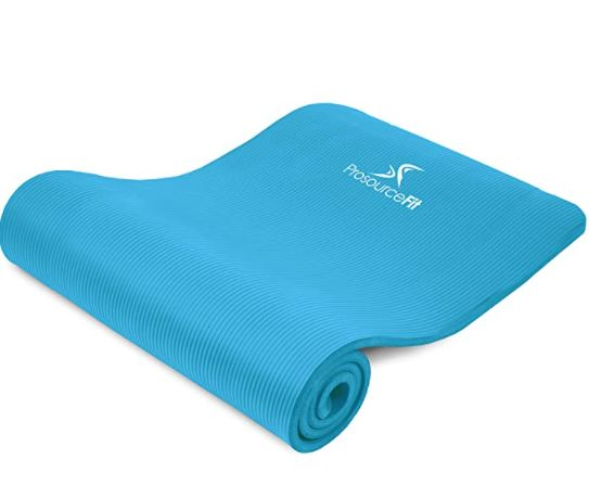thick yoga mat for bad knees: ProsourceFit Extra Thick Yoga Pilates Exercise mat
