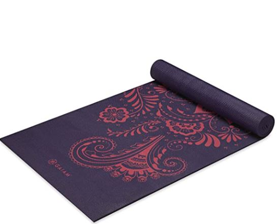 thick yoga mat for bad knees: Gaiam Yoga Mat - Premium 6mm Print Extra Thick Non Slip Exercise & Fitness Mat